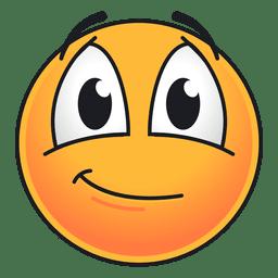 Lindo emoticon ruborizado