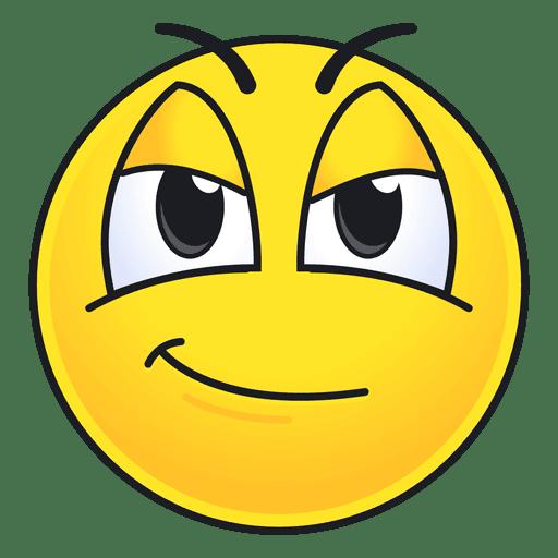 Cute confident emoticon Transparent PNG