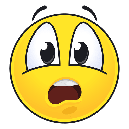 Cute disgusted emoticon Transparent PNG