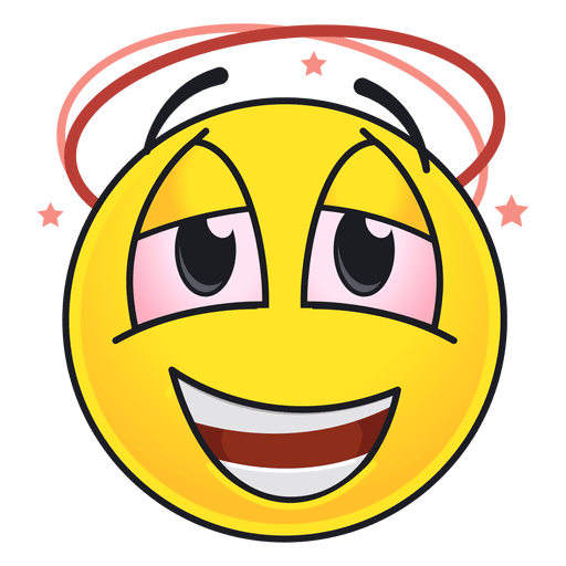 Cute drunk emoticon Transparent PNG