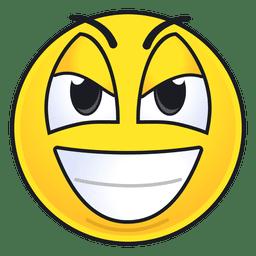 Lindo emoticon de sonrisa malvada