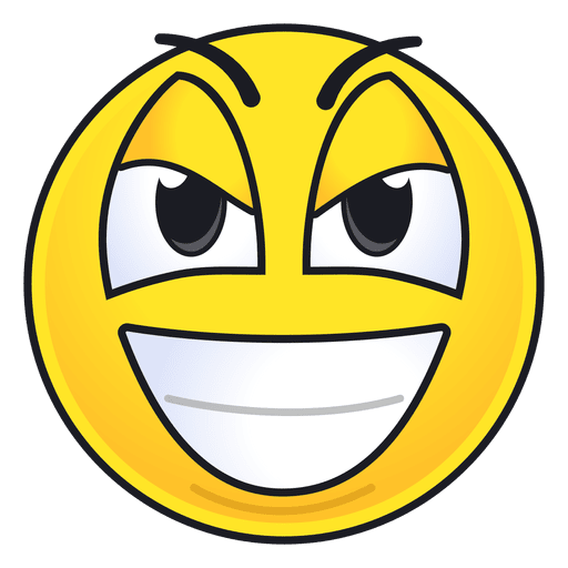 Cute evil grin emoticon - Transparent PNG & SVG vector