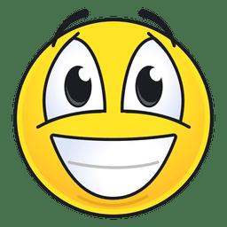 Netter lachender Emoticon