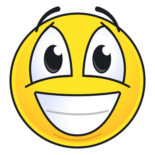 Cute laughing emoticon Transparent PNG