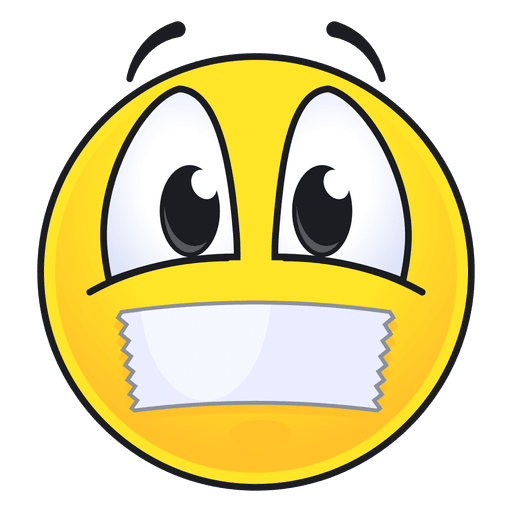Cute lips sealed emoticon Transparent PNG