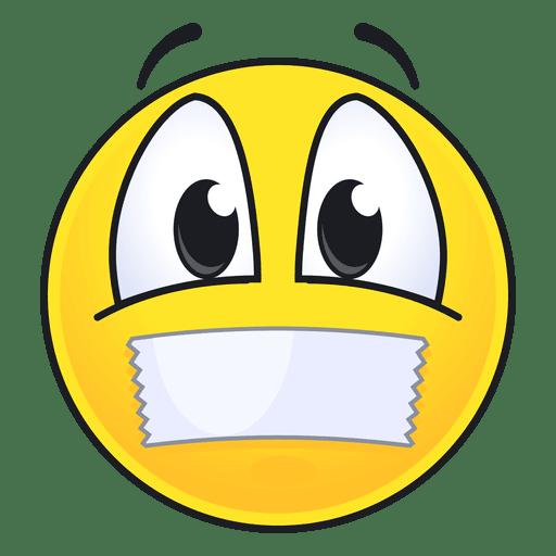 Emoticonos lindos labios sellados. Transparent PNG
