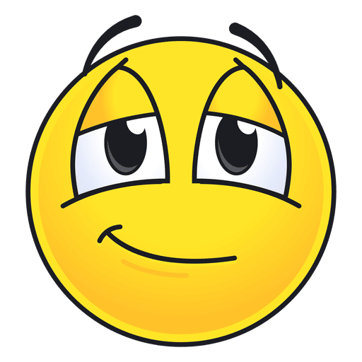 Cute pleased emoticon Transparent PNG
