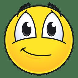Emoticon bonito e sorridente