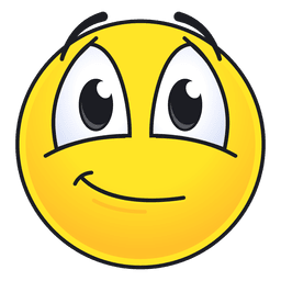 Lindo emoticon sonriente