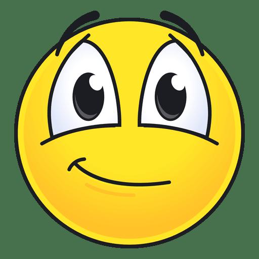 Cute smiling emoticon Transparent PNG