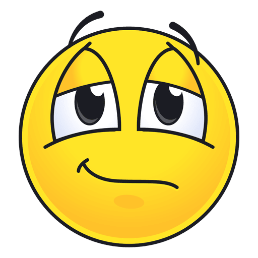 Cute speachless emoticon Transparent PNG