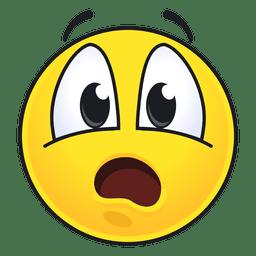 Netter überraschter Emoticon