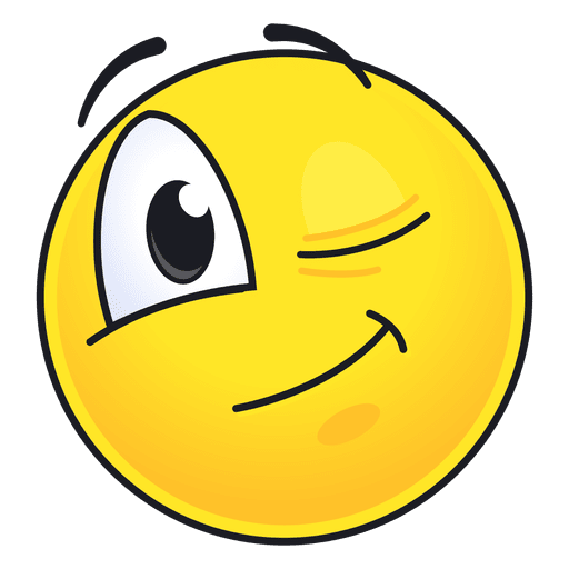 Cute winking emoticon Transparent PNG