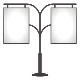 Placa de publicidade dupla em branco