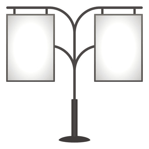 Double blank pole advertising board Transparent PNG