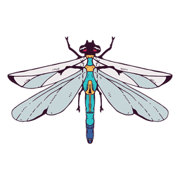 Ilustración de libélula