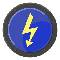 High voltage warning blue