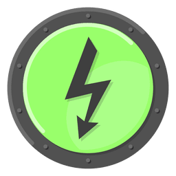 High voltage warning green