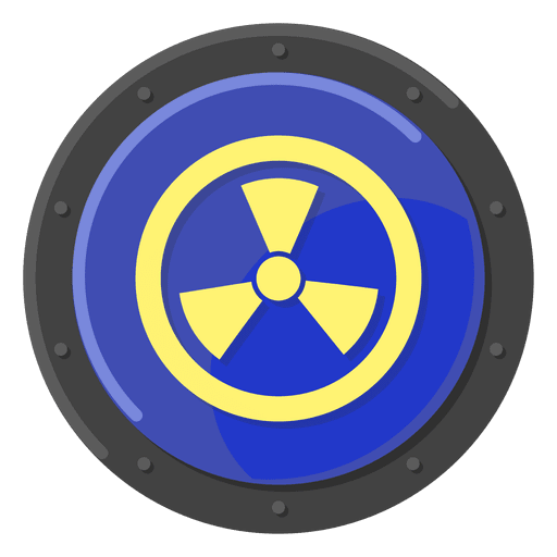 Nuclear warning blue Transparent PNG