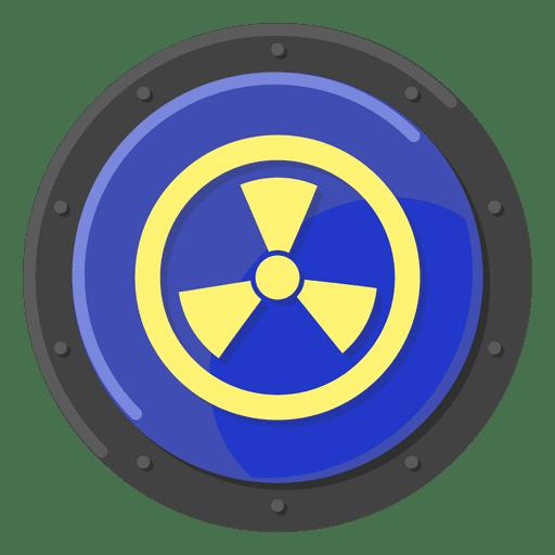 Nuclear warning blue