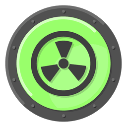 Nuclear warning green