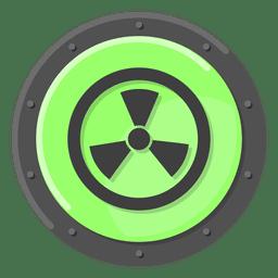 Nukleare Warnung grün