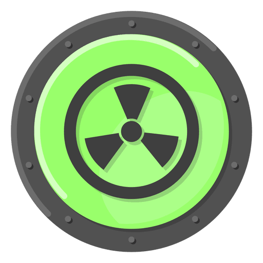 Nuclear warning green Transparent PNG