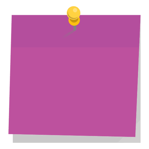 Pinned purple sticky note Transparent PNG
