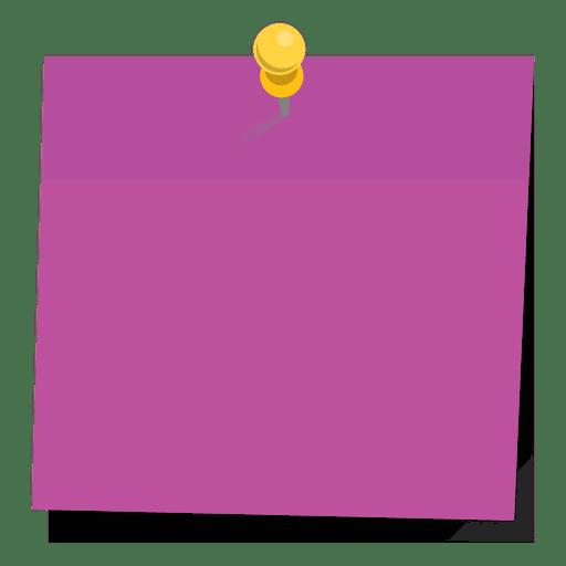 Pinned purple sticky note