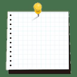 Pinned nota adhesiva al cuadrado