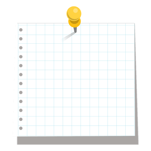 Pinned squared sticky note - Transparent PNG & SVG vector file