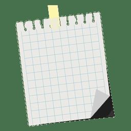 Nota pegajosa quadrada
