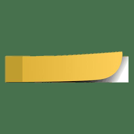 Gelbe Seitenmarkierung Transparent PNG