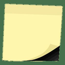 Amarelo postá-lo nota