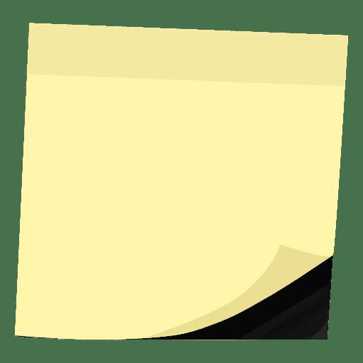 Nota amarilla Transparent PNG