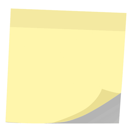 Yellow post it note Transparent PNG