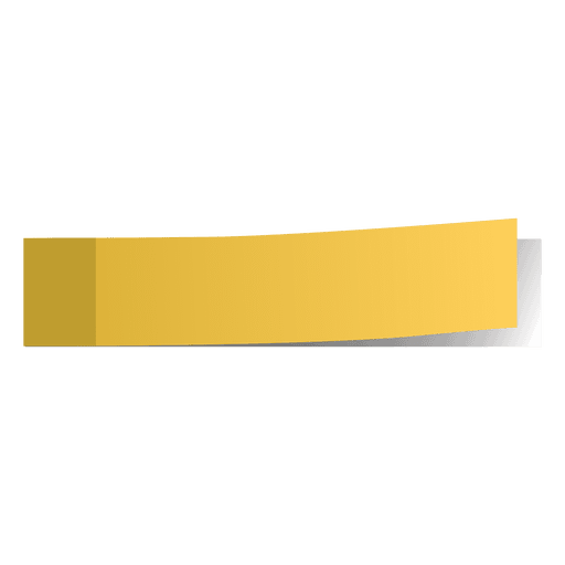 Yellow post it page marker Transparent PNG