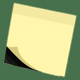 Amarelo postá-lo nota auto-adesiva