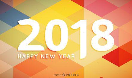 Cartel de cartel poligonal 2018