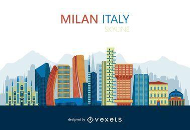 Diseño plano del horizonte de Milán
