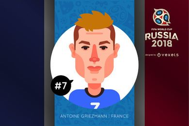Antoine Griezmann cartoon character