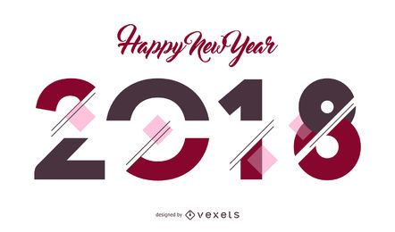Cartel de cartel de año nuevo 2018