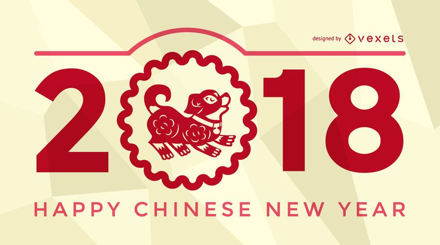 Cartaz do ano novo chinês de Festive 2018