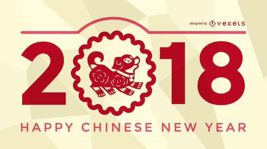 Festliches Plakat zum Chinesischen Neujahr 2018