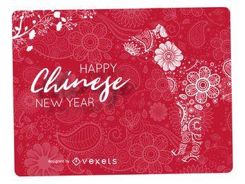 Mandala design do Ano Novo Chinês