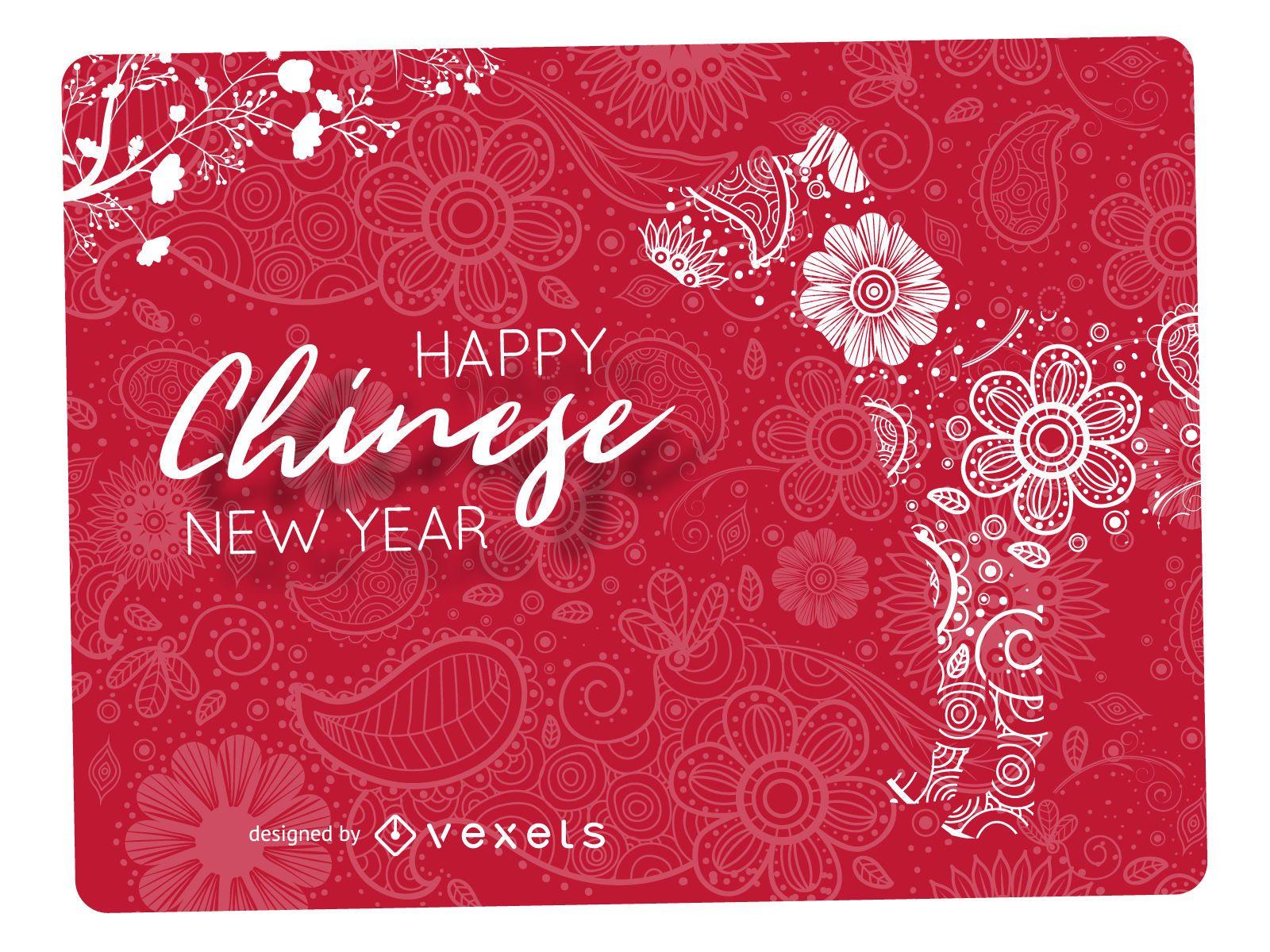 Diseño de año nuevo chino Mandala