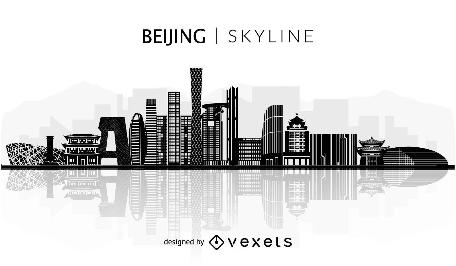 Beijing skyline silhouette