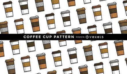 Padrão de caneca de café sem costura