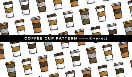 Seamless coffee mug pattern