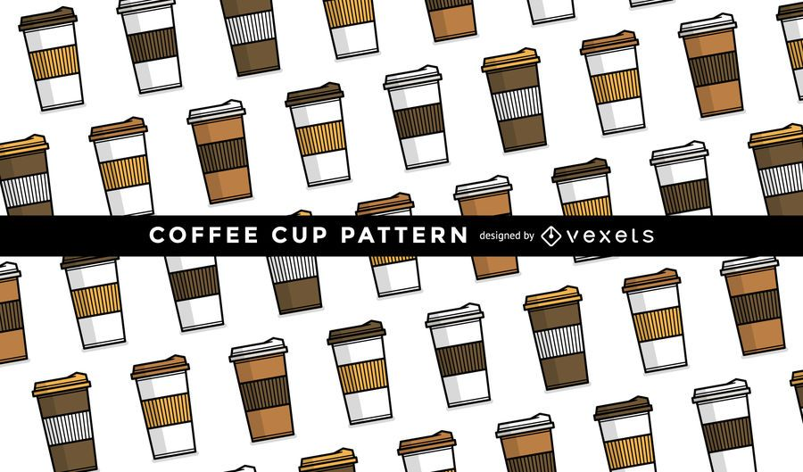Nahtloses Kaffeetassenmuster